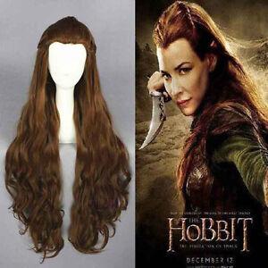 Sale The Hobbit Tauriel Long Anime Cosplay Wig Dark Brown Hair 90cm ...