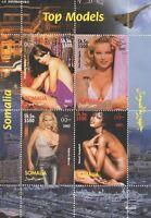 TOP MODELS SUPERMODELS CELEBRITY WOMEN SOMALIA 2002 MNH STAMP SHEETLET