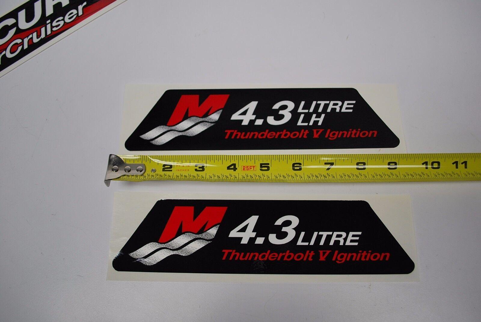 Mercury Mercruiser 4.3 Litre LH Thunderbolt Decal Sticker Set OEM 37-861314A7