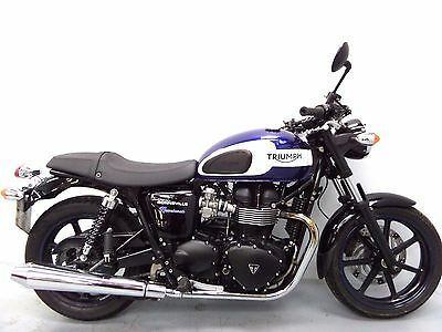 2015 TRIUMPH BONNEVILLE NEWCHURCH DAMAGED SPARES OR REPAIR NO RESERVE (12563)