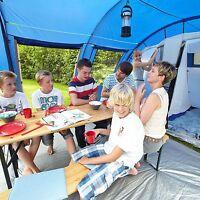 Skandika Canyon Ii 5 Personen Familienzelt Camping 2 Kabinen 570x320 Cm Blau Neu