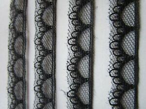 3Meter-Spitze-Nichtelastisch-Schwarz-1-5cm-breit-Borte-0495