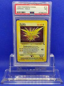 Zapdos-Holo-PSA-7-NM-1998-Fossil-15-Pokemon