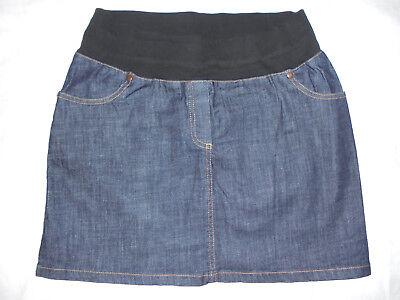 Veronique Delachaux Mini-jupe De Grossesse Jean Brut Souple Stretch T.1 Maternité 36/38