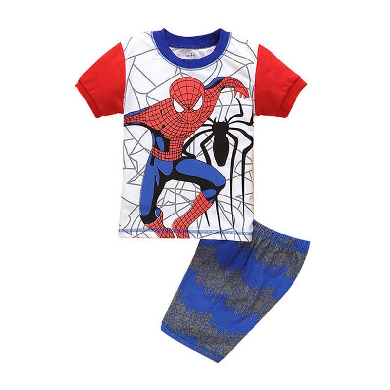 Shorts Homewear 1-8Y Boys Spiderman Sleepwear Pyjamas Matching Sets T-Shirts