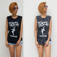 Women's My Chemical Romance Vest Tank Top T Shirt Ladies Rock Singlet S/M - M/L