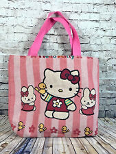 968256ee5f Hello Kitty Light Pink Striped Large Diaper Bag Handbag Tote Bag Shopper  Purse