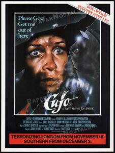 CUJO__Original 1983 Trade print AD / poster / London promo__STEPHEN KING horror