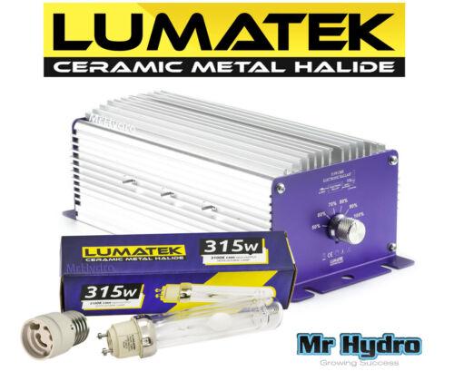 High Output Grow System Lumatek CMH 315w CDM Ballast Bulb /& Adapter
