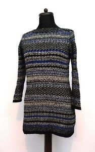 Tunica Una Per Chunky M Boat 12 Jumper s Black Marl Neck Blu Dress Textured 7dwdrpInq