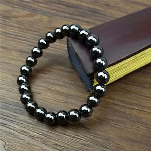 1Pc-Weight-Round-Black-Stone-Bracelet-Health-Care-Magnetic-Bracelefw