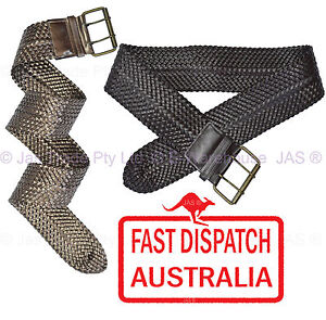 PLAITED-BRAIDED-HAND-CRAFTED-WAIST-BELT-BIG-BUCKLE-8CM-WIDE