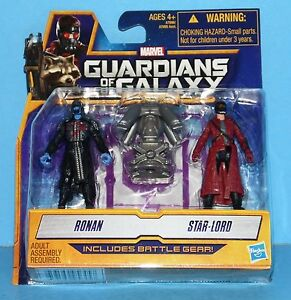 Guardians of the Galaxy ~ Star-Lord /& Ronan ~ Action Figures ~ Battle Gear