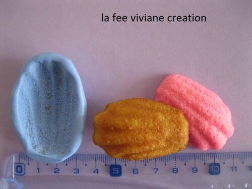 moule silicone à fimo plâtre résine sucre savon madeleine gateau 4.5//3 cm n128