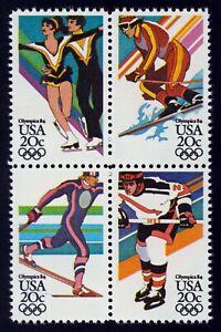 #2070a 20c 1984 Invierno Olimpiadas, Se-Tenant Bloque Cualquier 5=