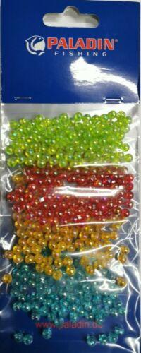 Perlensortiment Nr 2 Paladin Brandung Perlen Knotenschutz 5mm 4 Farben je 100