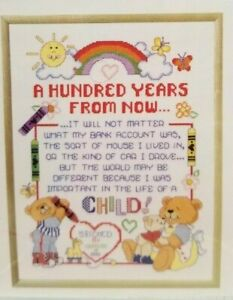 Teddy-Bear-Baby-Counted-Cross-Stitch-Pattern-Janlynn-100-Years-12-5x15-5-inch