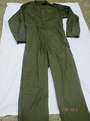large Lustrous Surface Bright Coverall Men's Olive Overall Work Combi Size 180/108