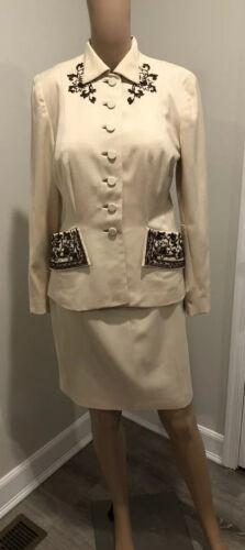 Fred A Block Vintage 1940s Wool Embellished Skirt