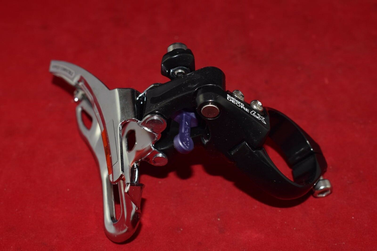 Shimano Deore LX FD M565 front derailleur 34.9 mm 8 speed top pull Triple NOS