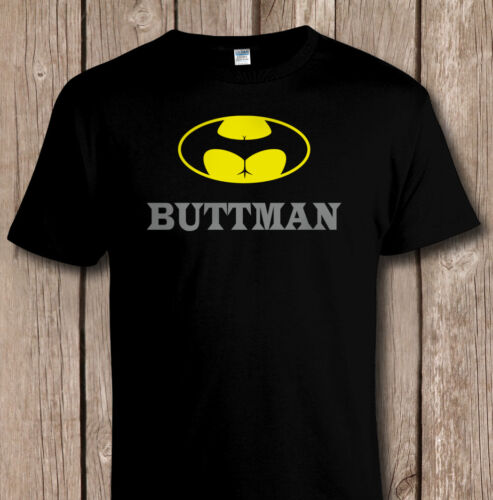 Funny /'BUTTMAN/' Batman Bat Signal Dark Knight Parody T SHIRT Sizes to 5XL