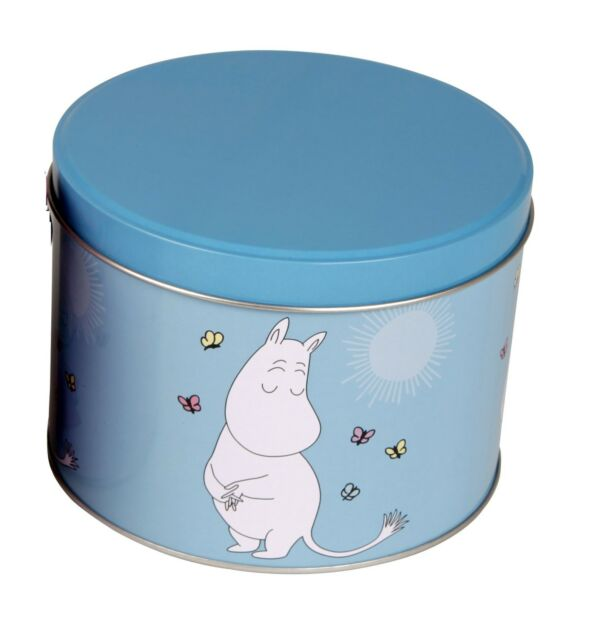 Moomin Tin Can Round Moomin Troll Turquoise Martinex Finland