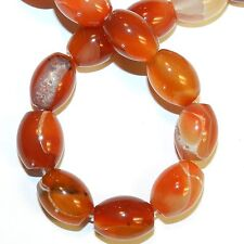 """NG2889f Red Agate Large 20x15mm Tapered Oval Gemstone Beads 15"""""""