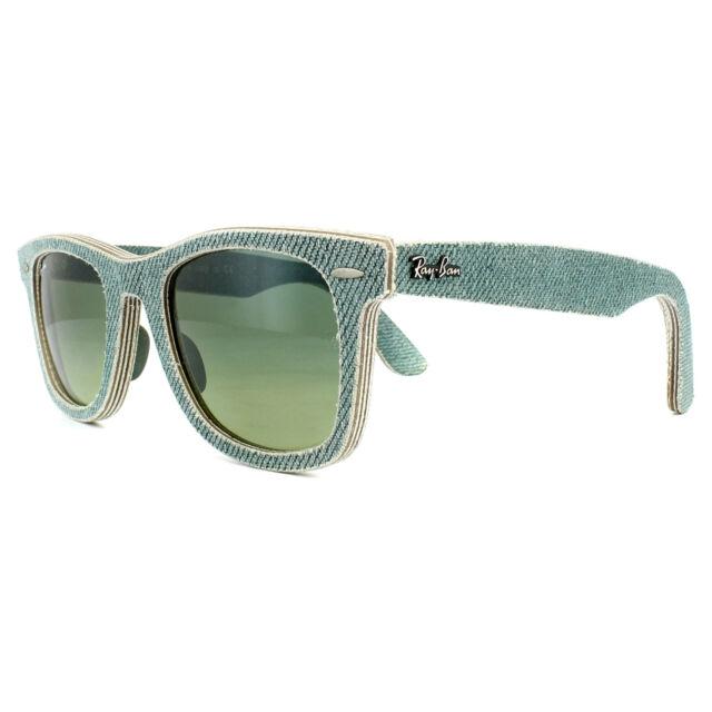 ce97141dc0c3a Ray-Ban Wayfarer Gafas de Sol 2140 11663M Vaqueros Verde Degradado 50mm  Mediano