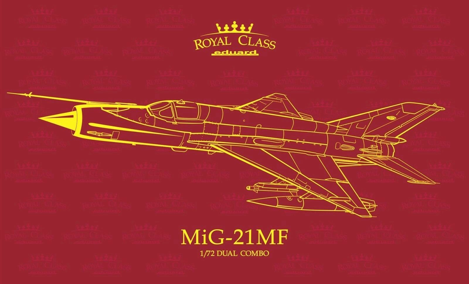 Eduard Royal Class 1 72 MiG-21MF Dual Combo Two Aircraft Model Kit