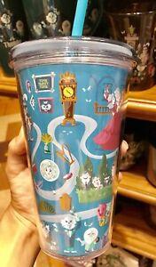 Disney Parks Haunted Mansion Happy 999 Haunts Tumbler Mug w// Straw 18 oz