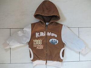 check out 39d02 2fade Details zu braun-beige Jacke Winterjacke Jungen-Jacke mit Kapuze Größe 104  von Kikiwon