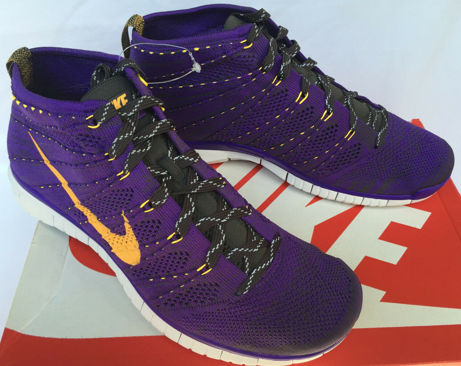 Nike Free Flyknit Trainer Chukka 639700-500 Grape Running Boots Shoes Men's 10.5 Brand discount