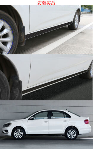 2M Rubber Car Body Side Skirts Strip Modified Splitters Protect Diffuser Winglet