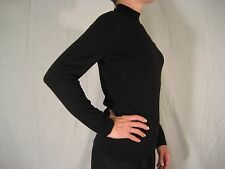 Vintage Louis Feraud 100% Merino Wool Mock Turtleneck Sweater Black Sz 6