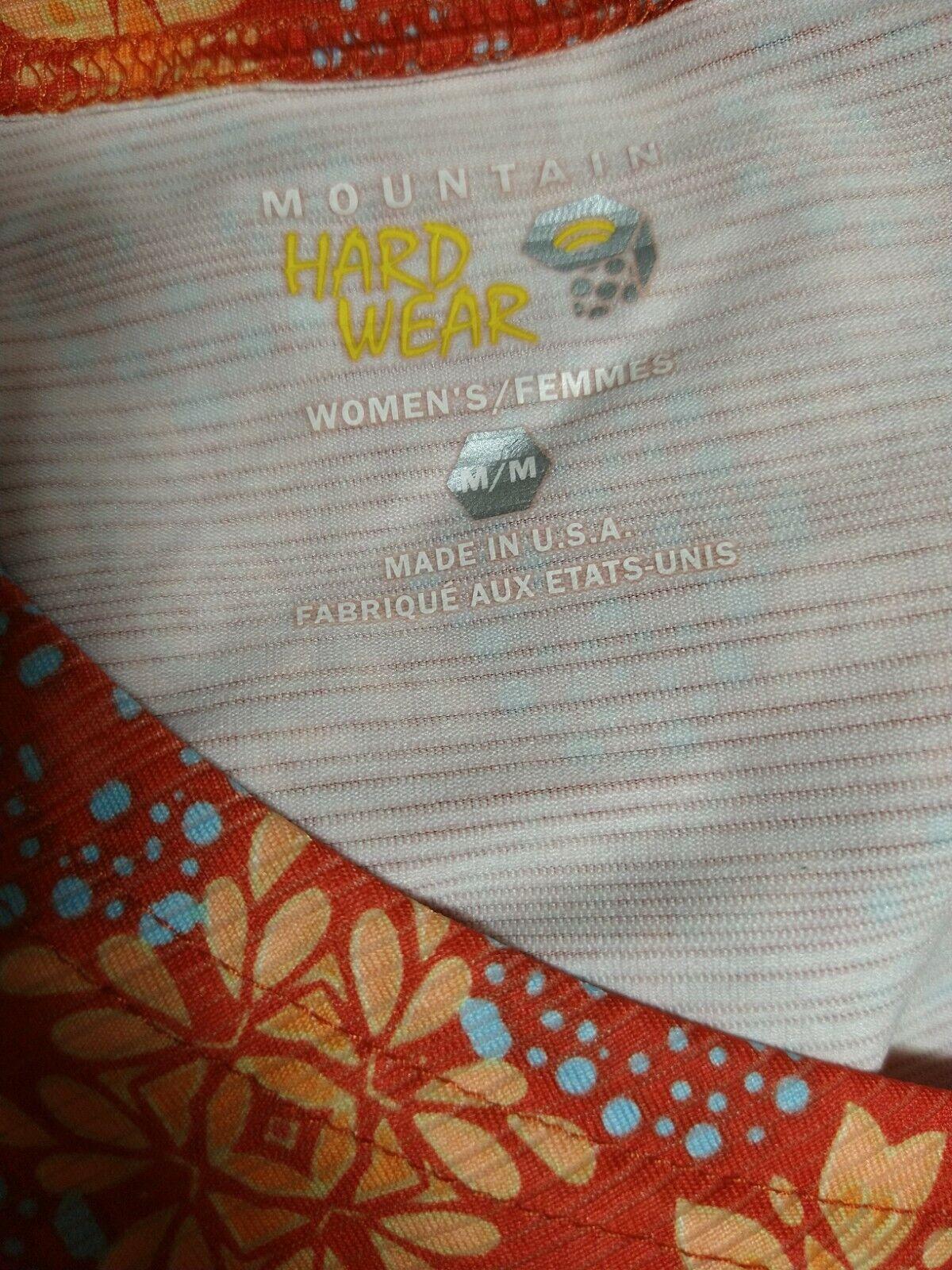 Mountain Hardwear WOMEN MEDIUM Sleeveless V-neck Athletic Yoga Casual Tank (#M7