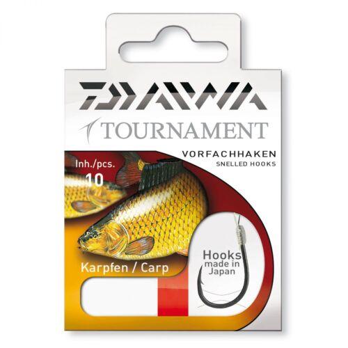 Daiwa Tournament Karpfenhaken Gr 6 bis 1 Gebundene Vorfächer Karpfenvorfächer
