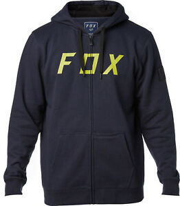 marino District Fox con Racing Talla 2 Sudadera cremallera azul c14qSSv