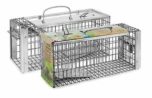 Stv088-Heavy-Duty-Rat-amp-Squirrel-Cage-Trap-Live-Catch-Humane-No-Poison-Defenders