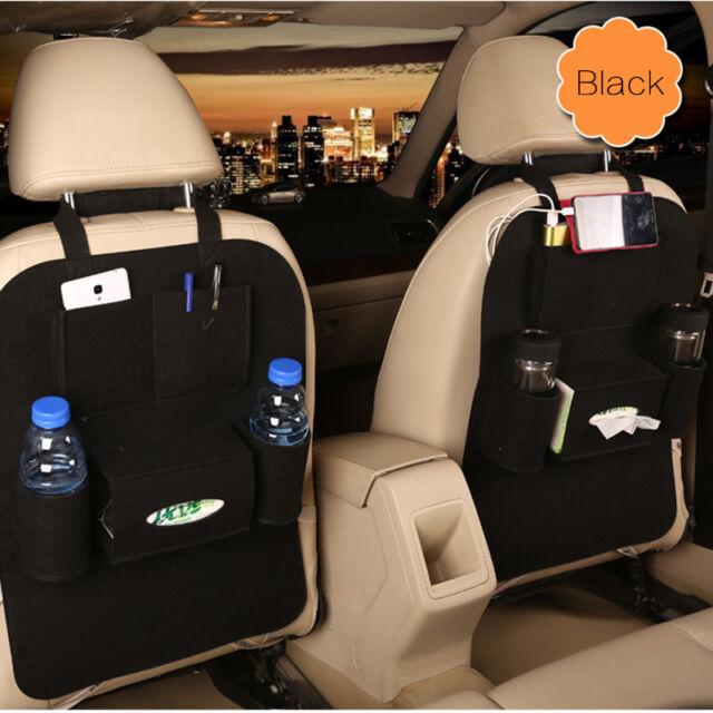 Auto Car Rear Seat Back Organizer Bag Storage Pocket Bottle Cup Holder Tidy Book