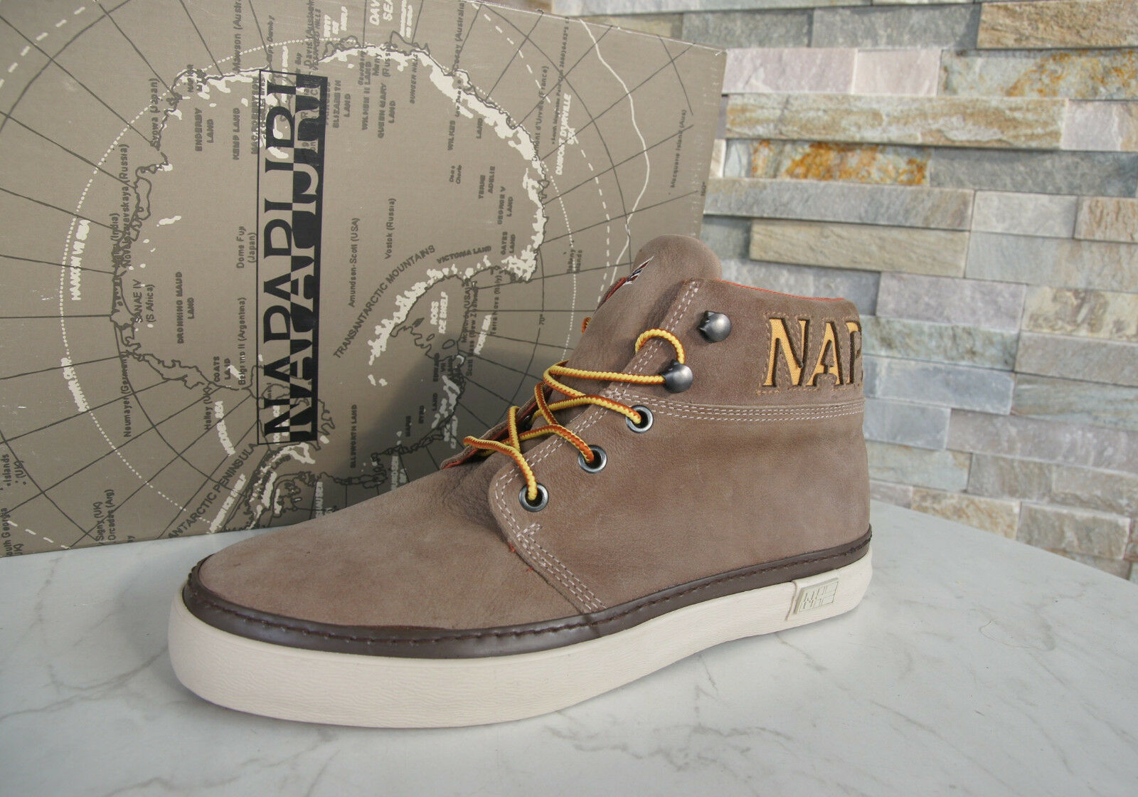 Napapijri Size 46 12 shoes Jakob High-Top Sneakers Trainers Antique Taupe New