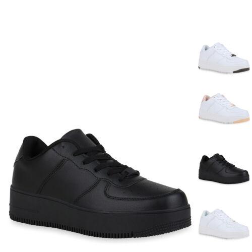 Damen Plateau Sneaker Turnschuhe Schnürer Sportliche Plateauschuhe 899337 Hot