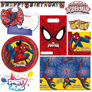 Marvel-Ultimate-Spiderman-Party-Children-039-s-Birthday-Tableware-Decorations