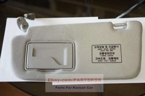 For 2006~2010 Kia Optima LH Drivers Side Sun Visor Gray Genuine Trim code QW