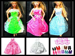 1x-BARBIE-SINDY-doll-toys-Abbigliamento-Outfit-Vestito-Lungo-Abito-da-Ballo-Matrimonio-UK-Venditore