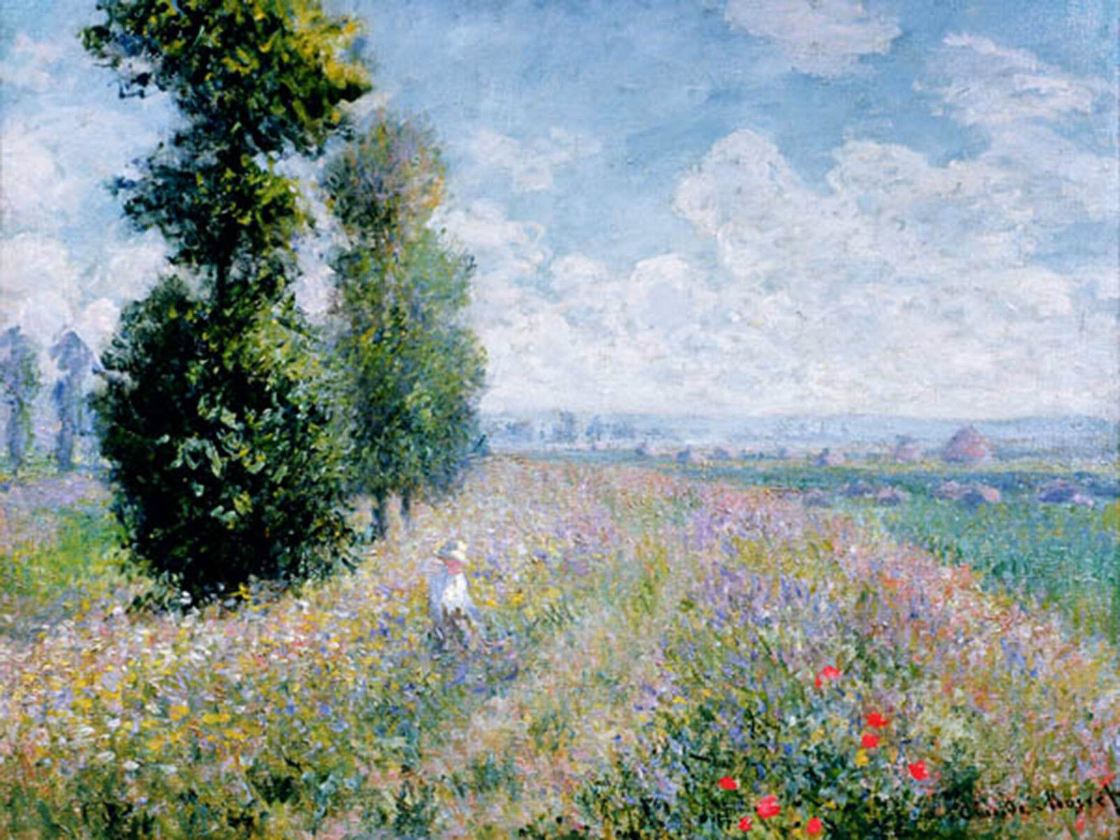 Quadro su Pannello in Legno MDF Claude  Monet Meadow  Claude  Poplars (detail) 9bec16