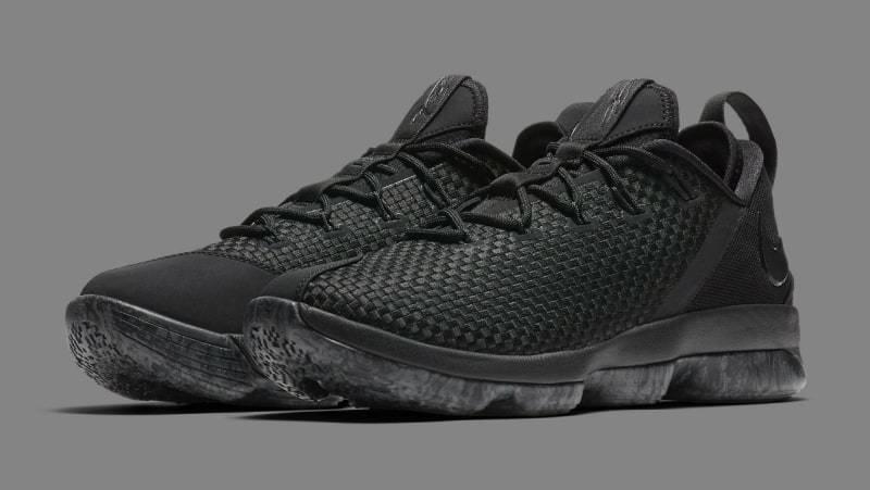 c4f9a628559 Nike Lebron James XIV 14 Low LBJ Triple Triple Triple Black Basketball Shoe  878636 002 Size 10 688059