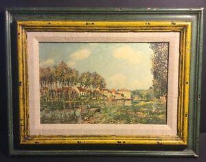 Vintage-ART-LORE-Alfred-Sisley-Print-Framed-LE-LOING-11-034-X-15-034