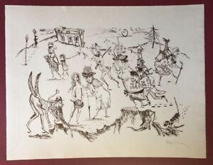 Tlalemabele Bachem, grettezza passeggiata..., litografia, 1965, firmato a mano