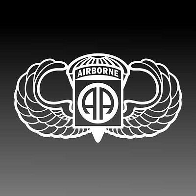 82nd Airborne Jump Wings Decal Parachutist Badge Military Sticker XXLG