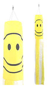 Happy Face Flag Nylon 5/' Windsock